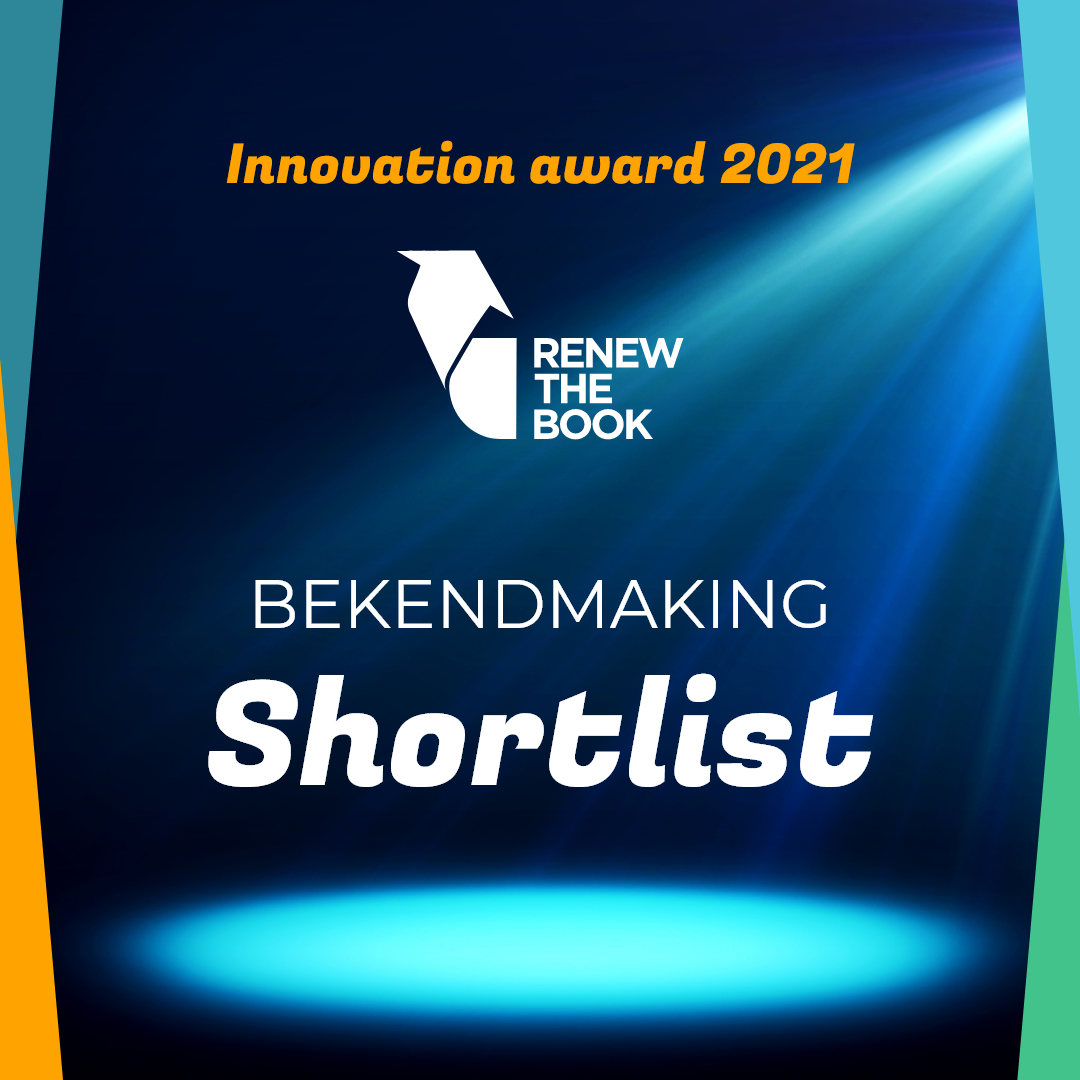 De shortlist van Renew the Book – Innovation Award